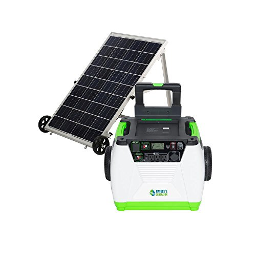 Nature's Generator Gold System 1800W Portable Solar and Wind Generator with 100W Solar Panel