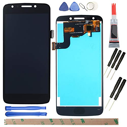 YHX-US Replacement for Motorola Moto E4 XT1765 XT1766 5.0' US Version (USA) Moto E (4th Gen.) LCD Display Screen Touch Digitizer +A Set of Tools(Black)