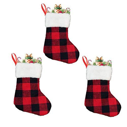 3 Piezas calcetín Enrejado Decoración