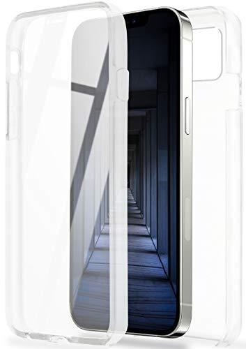 ONEFLOW Touch Hülle für iPhone 12/12 Pro - Hülle beidseitig stoßfest, vorne & hinten transparent, 360 Grad Schutz, dünne Handyhülle mit integriertem Panzerglas - Klar