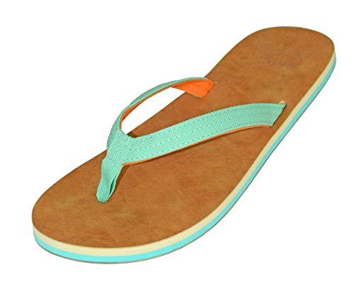 MADSea Tropical Chanclas Sandalias de Playa para Mujer Turquesa Azul Verde, Tamaño:37 EU
