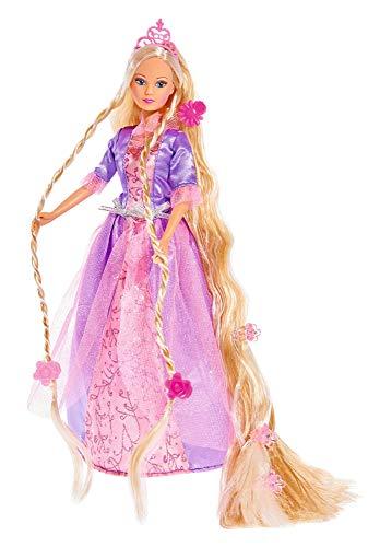 Simba 105738831 - Steffi Love Rapunzel / Steffi als Märchenprinzessin / mit sehr langen Haaren / mit Haarclips, Bürste und Kamm / Ankleidepuppe / 29cm, für Kinder ab 3 Jahren