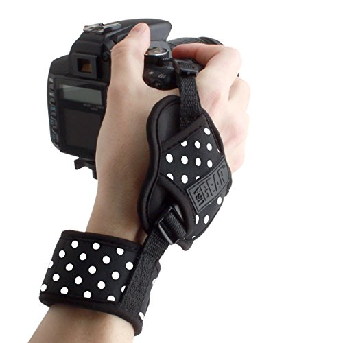 USA GEAR Empuñadura de Muñeca Correa de Mano para Cámara de Fotos Réflex Compatible con Canon,Nikon,Sony,Pentax y Muchas más. Diseño Lunares