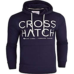 Brand New With Tags, Crosshatch Hooded Sweatshirt Branding Detail on Front Hood- Lined Hood with Pull Cords Pocket- Pocket to Front Sleeves and Bottom- Ribbed Cuff and Hem