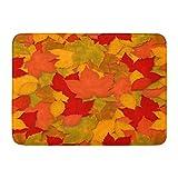Doormats美しい素朴な秋の紅葉玄関マット ドアマットドア入口敷物フロアマットフロント外側ドアノンスリップ入口カーペット用 泥落とし