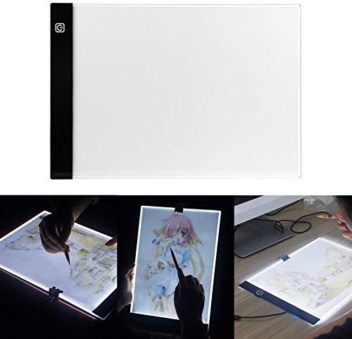 A4 Tavoletta luminosa tavolo da disegno a LED proteggere gli occhi tavolo luminoso da disegno tracciante portatile da tavolo leggero per il disegno degli artisti