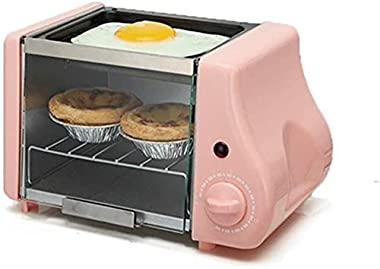 Rindasr Countertop microwave,Electric Oven Roast Grill Frying Pan Toaster Cake Bread Baking Machine Fried Eggs Omelette Fryin