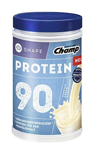 Champ Shape Protein 90 Eiweißshake, 24 g Protein pro Portion, Vanille-Cream, 390 g Portion