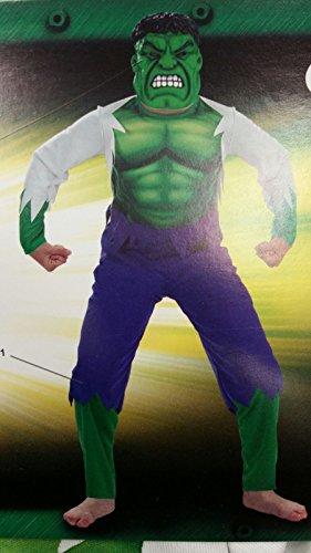 Hulk kostuum met helm en masker 3-5 jaar