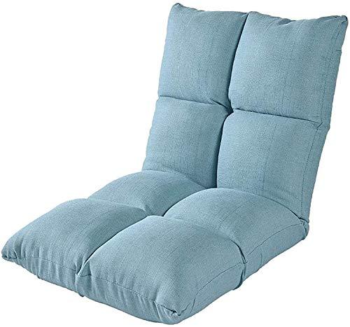 Bodensitz mit Rückenlehne Klappbarer Lazy Sofa Bodenstuhl Verstellbar 6 Winkel Gepolsterte Klappliege