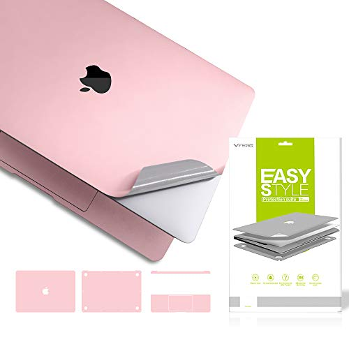 VFENG Premium 6 in 1 3M Vinyl Full Body Skin Sticker Decals for MacBook Pro 13.3 Inch 2020+ (Only: A2251) -Rose Gold