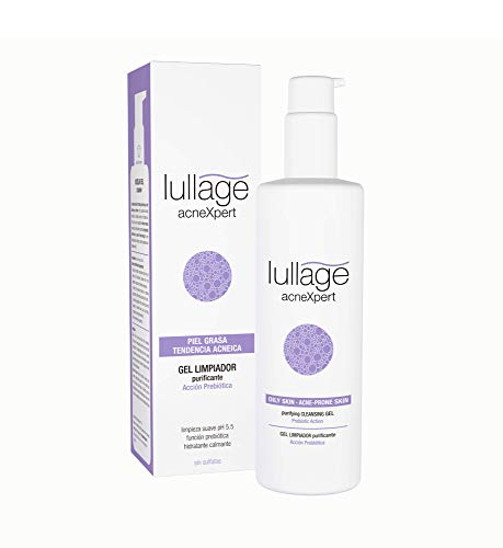 Lullage acneXpert Gel Limpiador Purificante para la limpieza Facial de la piel grasa con imperfecciones o propensa al acné Sebo-Regulador | Purifica y Suaviza el Rostro de Manera Profunda, 200 ml
