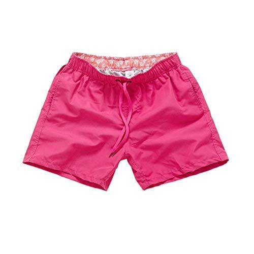Meijunter Hommes Court Maillot de Bain - Rapide Sec Respirant Short de Plage Pantalon avec Les Poches, Bain Shorts pour des Sports Fonctionnement Nager