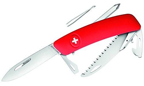 SWIZA mes D06, rood, zaag Zwitsers mes