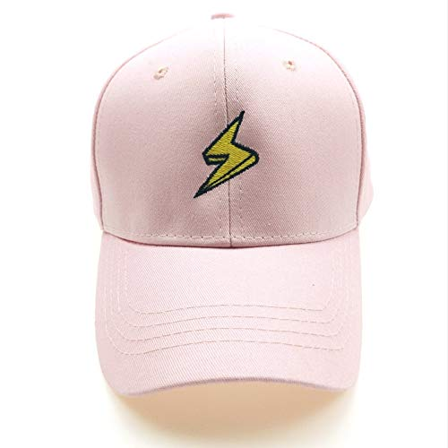 Cwenjing Gorra de Béisbol Hombre Mujer Gorra De Béisbol con Bordado De Signo De Relámpago Ponytail Ladies Tennis Golf Pelota Sombrero (Color : Pink, Size : Adjustable)