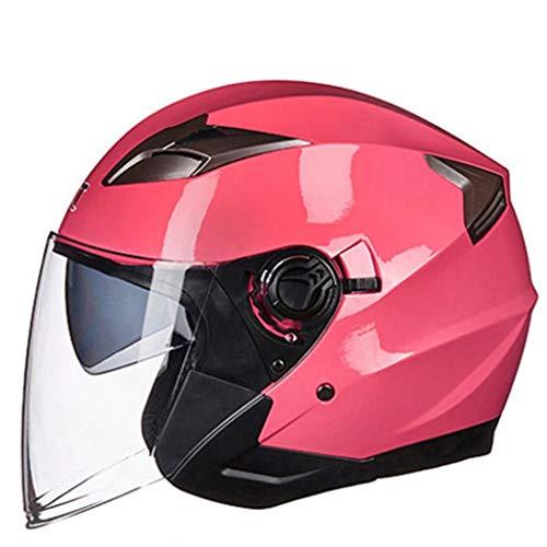 Open Face Jet Motorradhelm Für Männer Frauen Roller Half Face Biker Motorrad Motorrad Sicherheitskappen Doppellinse Leichter Fahrradhelm