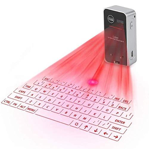 BESTSUGER Teclado Virtual, Proyección Teclado Inalámbrico Bluetooth con Control de Gestos, Accesorio Ideal para Teléfonos, Tabletas, Computadoras Portátiles, PC