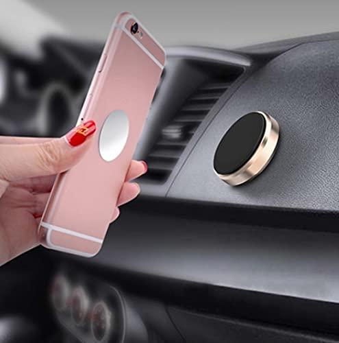 Freenfitmall, supporto per telefono da auto, supporto magnetico universale per cellulare, 3 pezzi, colore: argento