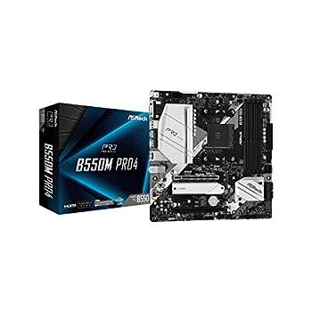 ASRock B550M PRO4 Supports 3rd Gen AMD AM4 Ryzen/Future AMD Ryzen Processors Motherboard
