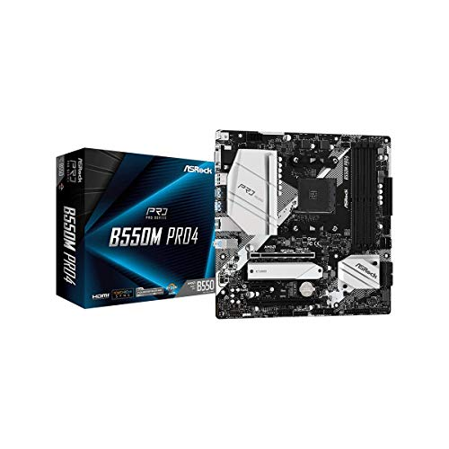 ASRock B550M PRO4 Supports 3rd Gen AMD AM4 Ryzen/Future AMD Ryzen Processors Motherboard