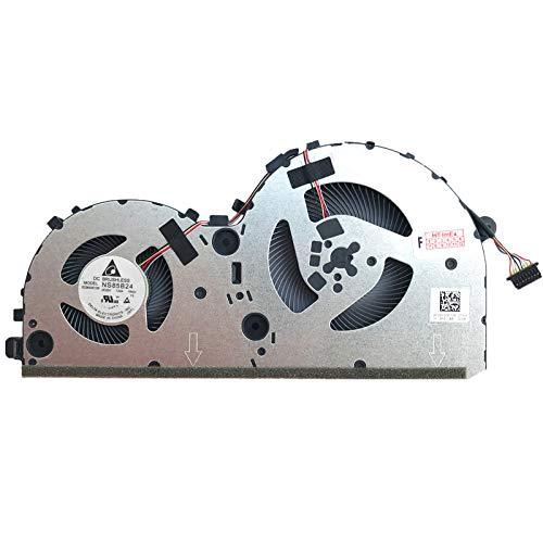 Ventilador de refrigeración para Lenovo IdeaPad L340-15IRH, L340-15IRH (81LK), L340-15IRH (81TR), L340-17IRH GTX 1050, L340-17IRH GTX 1650