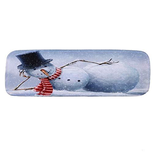 Dogggy - Tappetino antiscivolo per scale, motivo pupazzo di neve, 1 o 5 pezzi