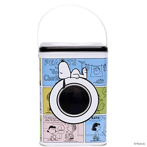 Butlers Peanuts Waschpulverdose Snoopy 15x15x20 mit Allover-Print - Bunte Aufbewahrungsbox aus Metall - Waschmitteldose