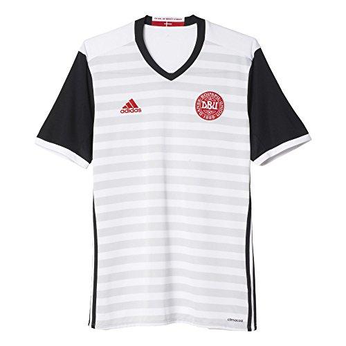 adidas 2ª Equipación Selección de Fútbol de Dinamarca - Camiseta Oficial, Talla M