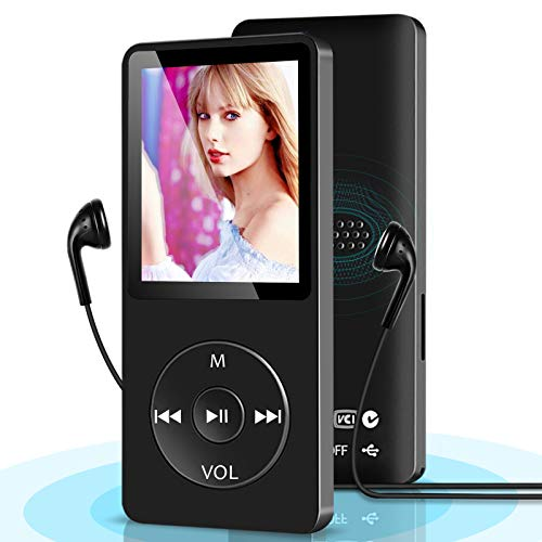 "MP3 Player, MP3 Music Player,Build-in Speaker, Portable HiFi Music Player for Kids, with 1.8"" Screen, Expandable up to 128GB, Ultra Slim Mp4 Mp3 Audio Players with FM Radio,Voice Recorder, Video"