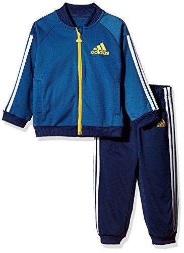 adidas Kinder Sport Shiny Trainingsanzug, Corblu/Eqtyel, 62