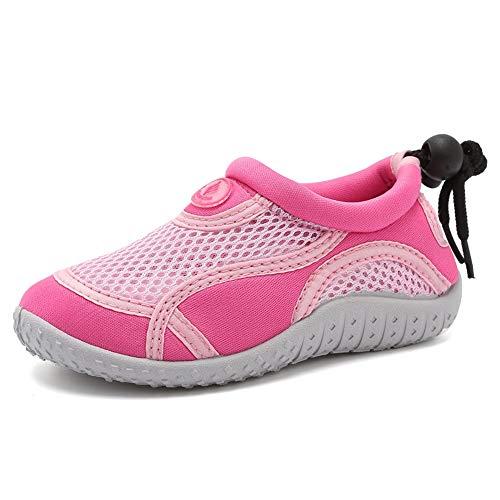 Merence Dziecięce buty do wody dla dzieci, buty do pływania, na plażę, szybkoschnące, buty sportowe dla dziewcząt i chłopców, - Klasyczny róż. - 25 EU