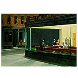 QINGRENJIE Wandkunst Bild Poster Edward Hopper: Nighthawks
