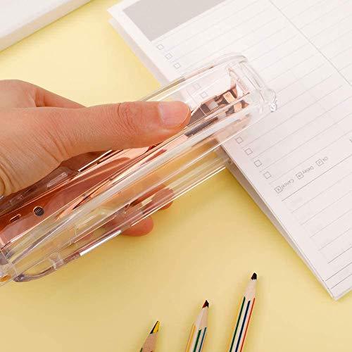 Acrylic Stapler,Desk Stapler,Office Stapler,Non-Slip, Stapler for Office and Home ,25-Sheet Capacity (Rose Gold) Photo #2