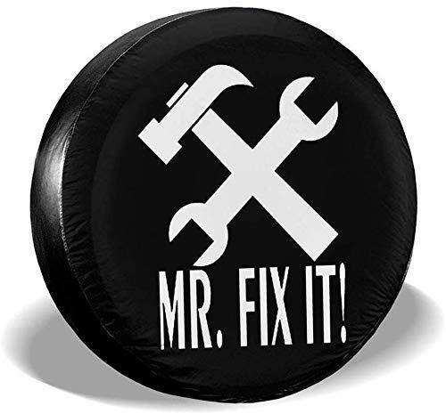 Enoqunt Mr Fix It Universal Fit Reifenabdeckungen wasserdichte, staubdichte Ersatzreifenabdeckung für Anhänger, Wohnmobile, SUV-LKWs und viele Fahrzeuge