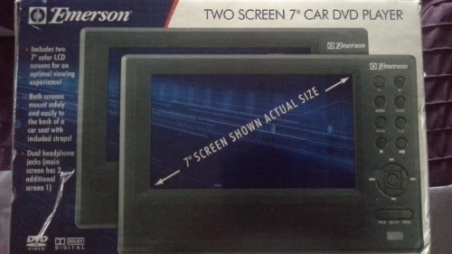 Check Out This Emerson 7 Inch Dual Car Dvd Players. Gray