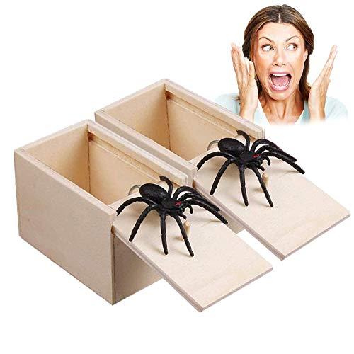 WELLXUNK® Araña Broma Caja, Caja De...
