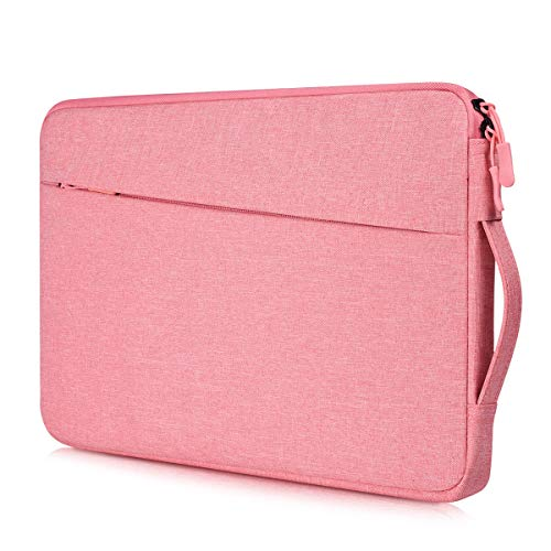 13 13.3 Inch Waterproof Laptop Briefcase Women Ladies Carrying Bag for Dell Inspiron 13 5000 7000, 2020 Macbook Air 13 A2179/ Pro 13 A2289 A2159, Surface Laptop 3, Acer R13 Chromebook 13 Case, Pink