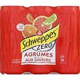 Schweppes Boisson gazeuse aux extraits naturels d'orange et arômes pamplemousse, citron vert et mandarine - Les 6 canettes de 33cl