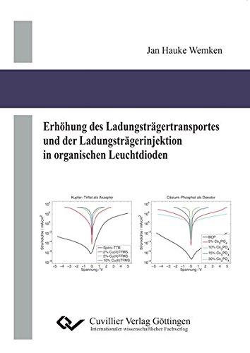 Erhöhung des Ladungsträgertransportes und der Ladungsträgerinjektion in organischen Leuchtdioden