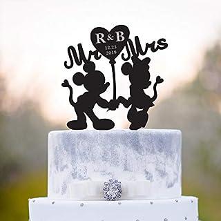 Adorno para tarta de Minnie Mouse, decoración para tarta con diseño de Mickey Mouse, decoración para tarta de Minnie, decoración única para tarta de Mickey Mouse, a54