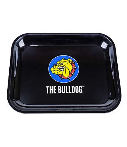 The Bulldog Amsterdam Rolltablett   Extra große Metalltabletts   Schwarz Premium Bulldogge Logo Design