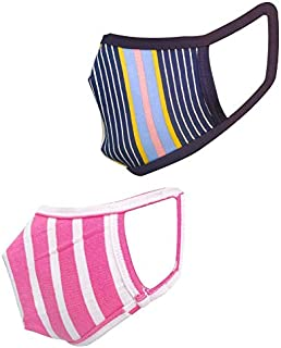 Cotton Cloth pack of 16 Face Mask Washable Reusable Face Masks Soft Earloop/Mouth Nose Cover 2 ply face masks Men Women Ki...