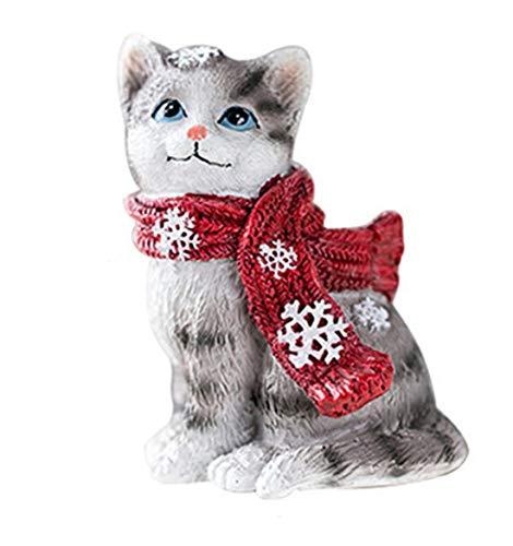 RongDuosi kat ornamenten grijze kat ornamenten kitten verjaardag gift hars decoraties thuis creatieve schattige TV kast wijnkast partitie display accessoires home decoraties voor woonkamer