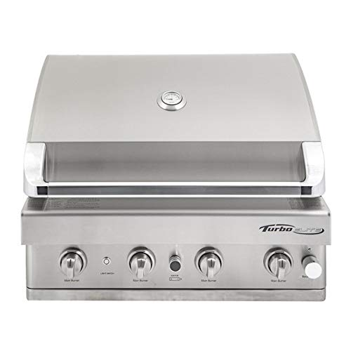 Barbeques Galore Turbo Elite 32-inch 4-Burner Built-in BBQ Gas Grill - Natural Gas - BTE3216ANG Gas Grills Natural