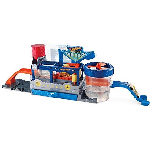 Hot Wheels - Pista de coches Supertúnel de lavado - (Mattel FTB66)