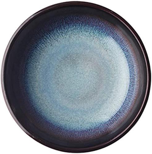 Kreative Keramikschale Dessertschale Salatschüssel Steakplatte Suppenlöffel Teller Ramenschale Reisschüssel Haushaltsrestaurant Geschirr Europäische Art Geschirr Suppenschüssel (Größe: A)-D. Pe