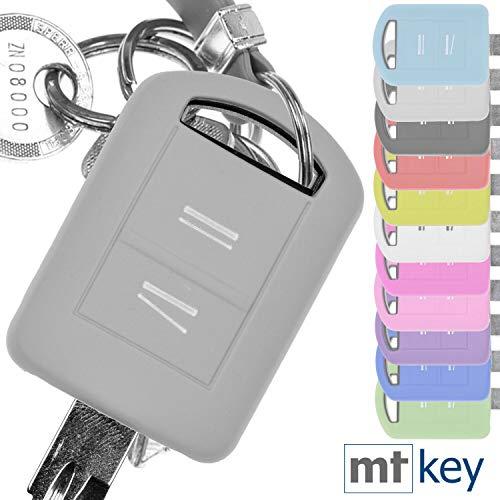 Soft Case Silikon Schutz Hülle Auto Schlüssel Grau kompatibel mit Opel Combo C Corsa C Meriva A Tigra TwinTop