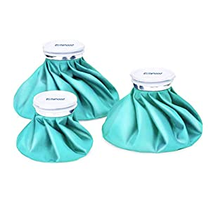 """Elitehood Ice Bag Ice Pack, Reusable Ice Bag [11"""" 9"""" 6""""] & 3 Pack Refillable Ice Pack Bag, Cold & Hot Therapy Ice Bag for Injuries Reusable Soft Blue Icepack for Pain Relief, Headaches, Breastfeeding by Elitehood"""