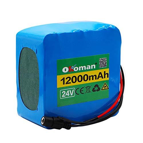 Paquete De Batería De Litio 6S5P 24V 12Ah, Bicicleta Eléctrica, Pedal, Scooter, Silla De Ruedas, Cosechadora BMS 25.2V 12000mAh + Cargador