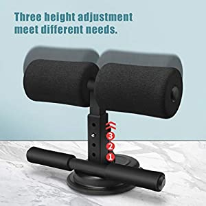 WPHUAW Sit Up Bar Sit Up Assistant Device Adjustable, Sit Up Foot Holder Self Suction Sit Up Aid for Home Gym
